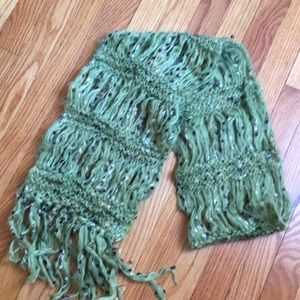 Green Knit scarf from Urban Outfitters
